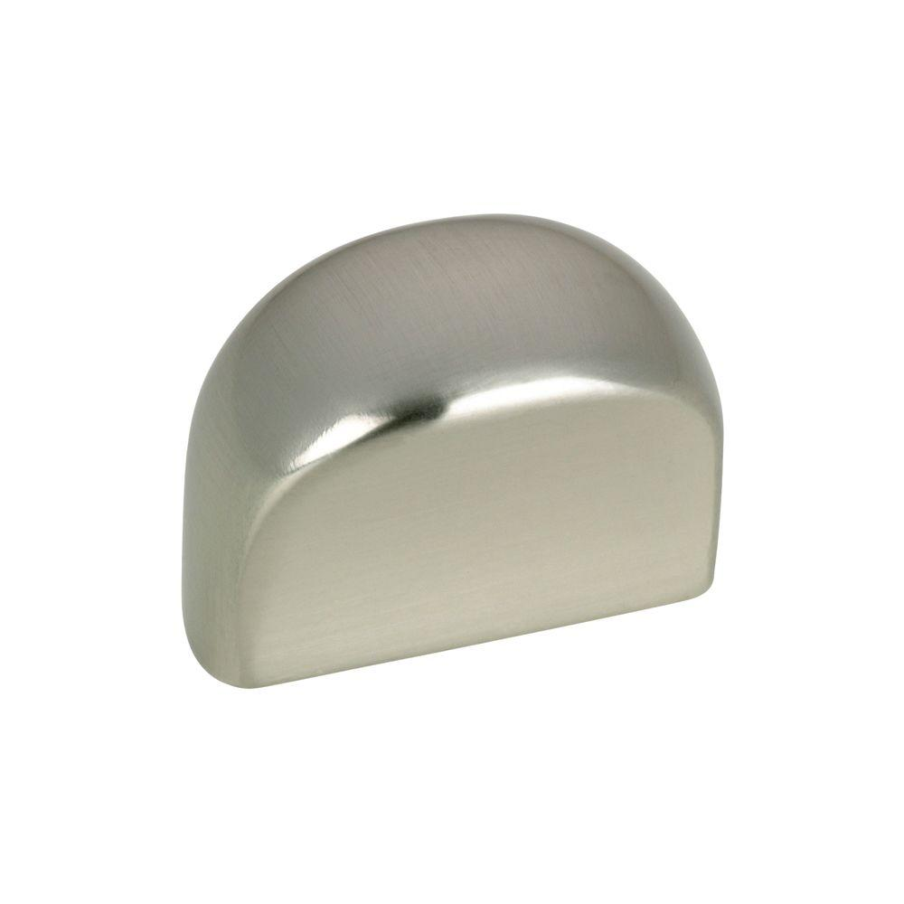 Contemporary and Modern 1-1/8 in. Brushed Nickel Cabinet Knob