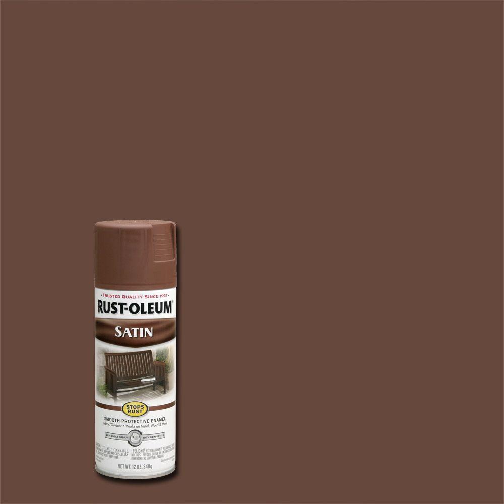 Protective Enamel Satin Chestnut Brown Spray Paint