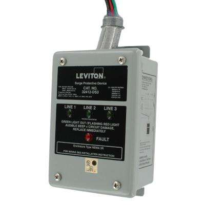 120/240/120-Volt Hi-Leg Split Phase Delta Surge Panel, Gray