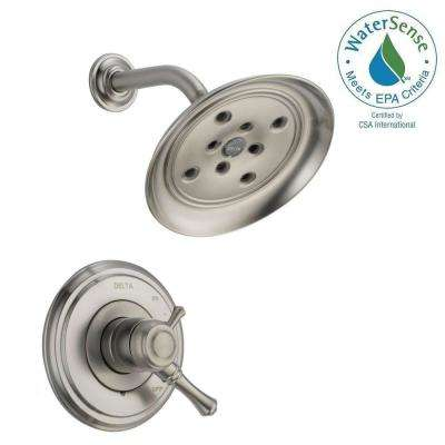 Cassidy 1-Handle Shower Only Faucet Trim Kit in Stainless (Valve Not Included)