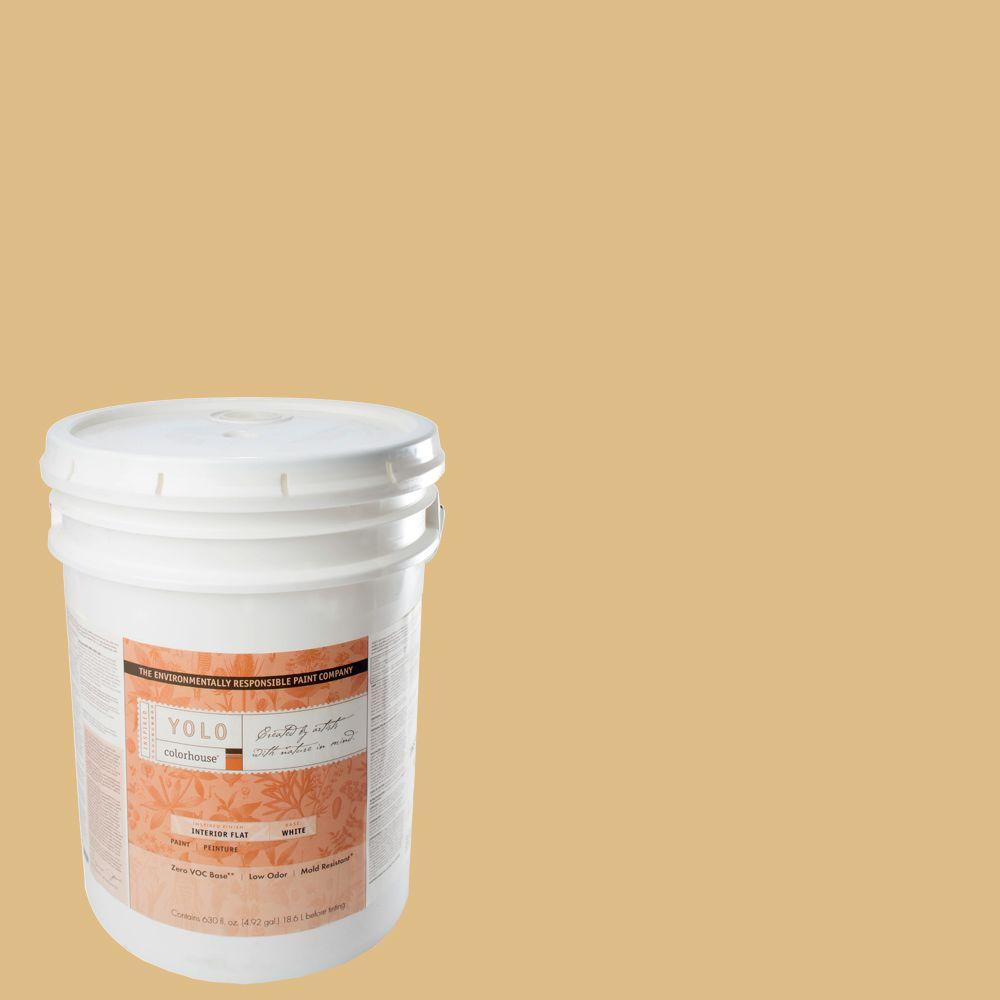 YOLO Colorhouse 5-gal. Grain .05 Flat Interior Paint-DISCONTINUED
