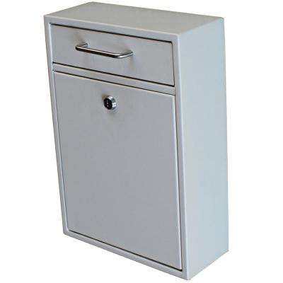 Olympus Locking Wall-Mount Drop Box with High Security Patented Lock, White