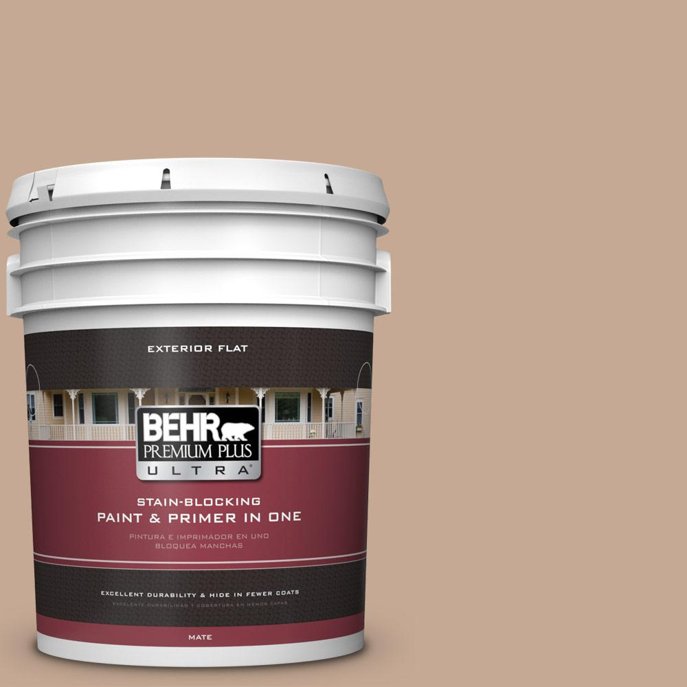 5 gal. #MQ2-40 French Pastry Flat Exterior Paint and Primer in