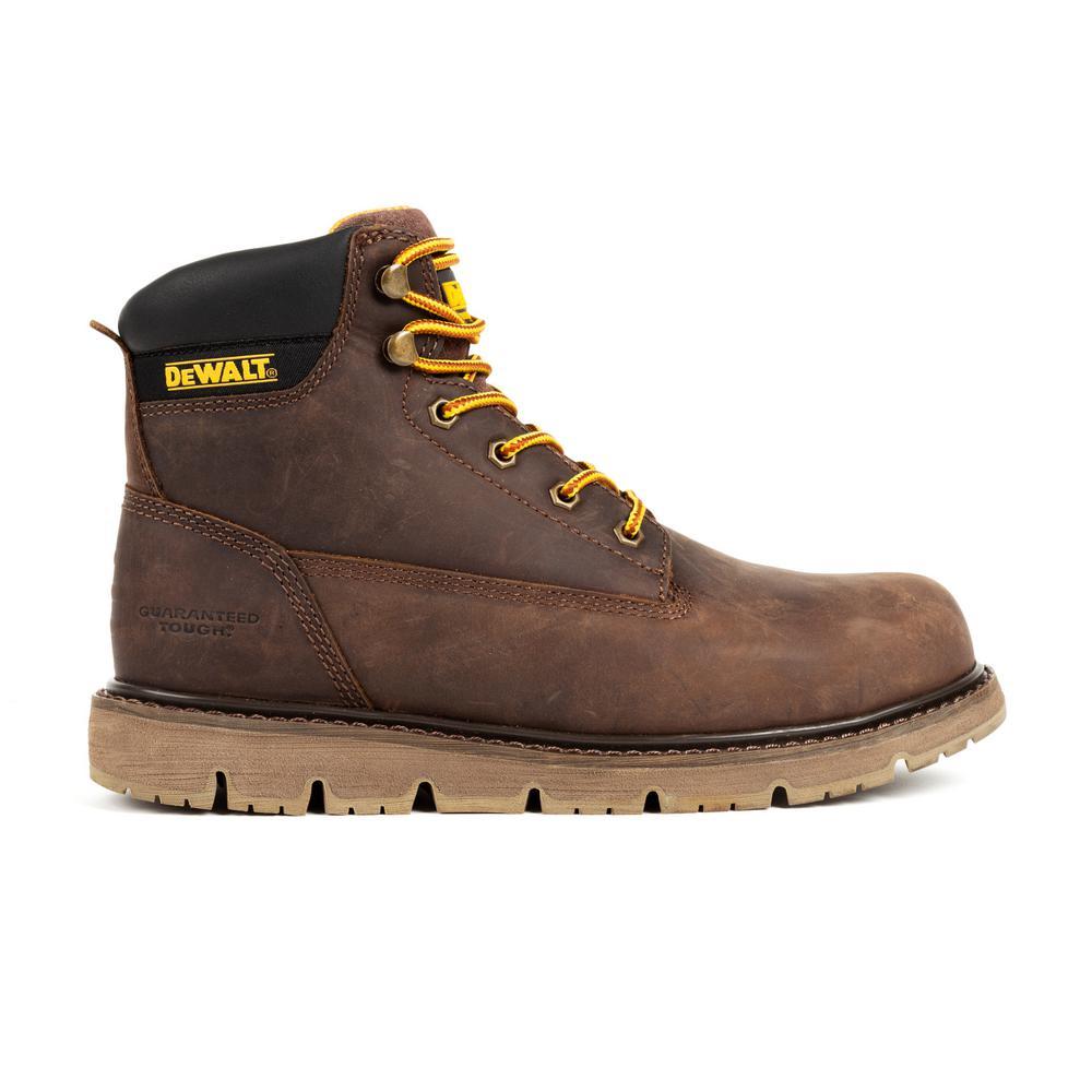 Flex Men's Size 12 in. (W) Dark Brown Leather Steel Toe 6 in. Work Boot