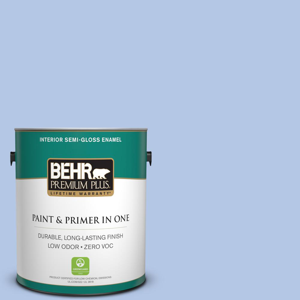 BEHR Premium Plus 1-gal. #590A-3 Beautiful Dream Zero VOC Semi-Gloss Enamel Interior Paint