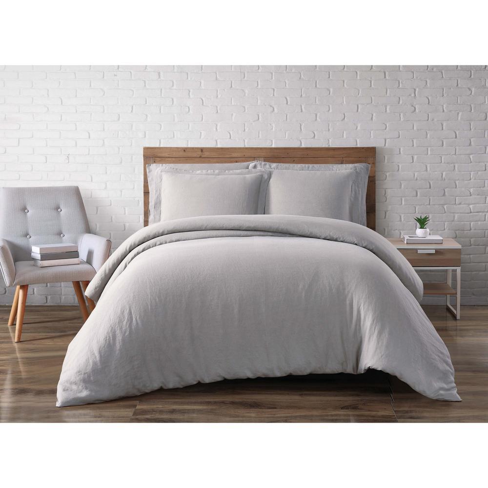 Linen Taupe Grey King Duvet Set