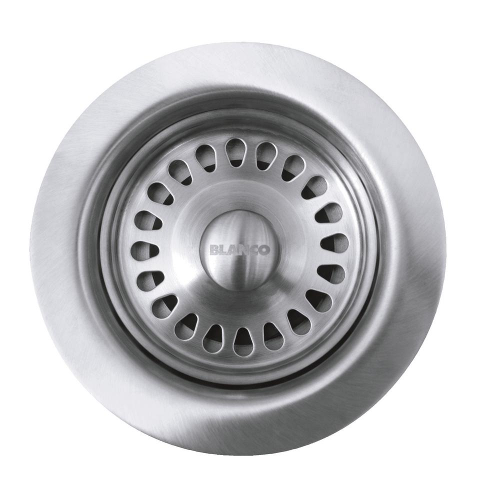 Blanco 3 5 In Decorative Basket Strainer In Stainless 441093 The Home Depot