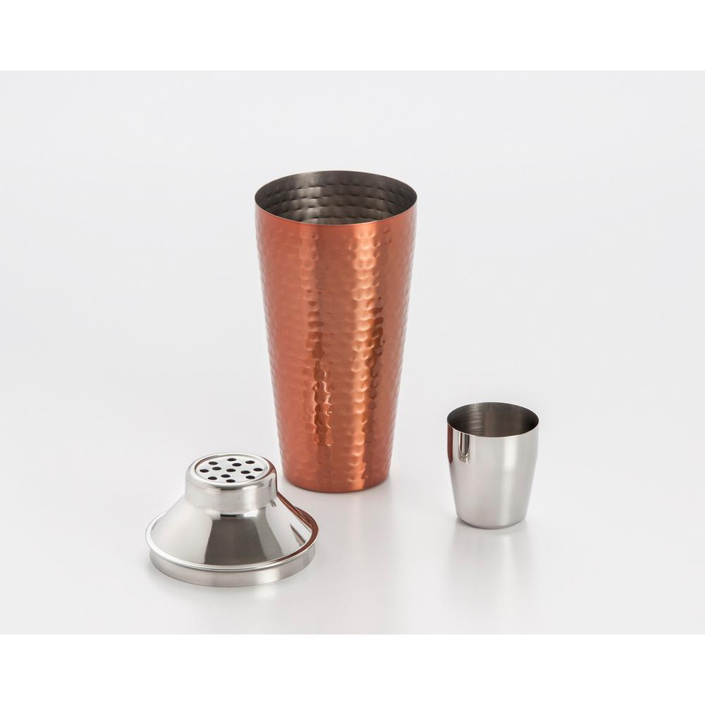 3-Piece 27 oz. Stainless Steel Cocktail Shaker