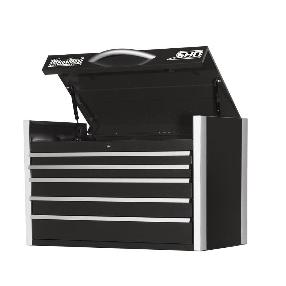 International SHD Series 35 in. 5-Drawer Top Chest, Black