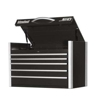 SHD Series 35 in. 5-Drawer Top Chest, Black