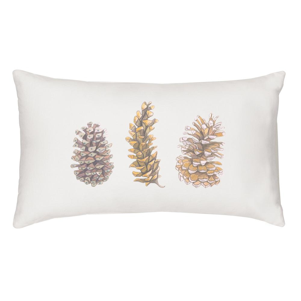 Cathy's Concepts 18 in. x 9 in. Pinecone Lumbar Pillow