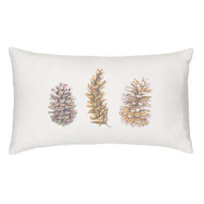 18 in. x 9 in. Pinecone Lumbar Pillow
