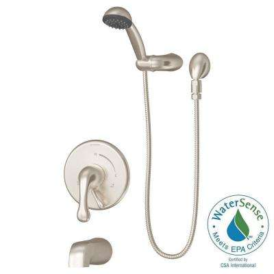 shower bath faucet combo. Unity 1 Spray Handshower in Satin Nickel  Valve Included Vacuum breaker Shower tub diverter Bathtub Faucet