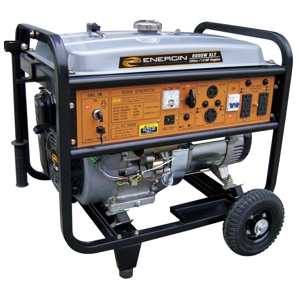 Energin 5500 Watt Gasoline Powered Electric Start Portable Generator