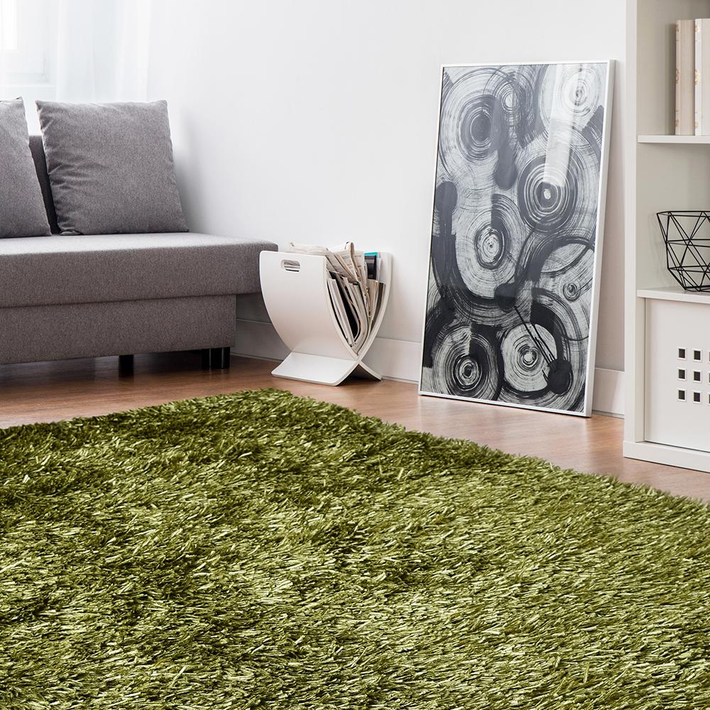 Lanart Electric Ave Lime 4 ft. x 6 ft. Area Rug