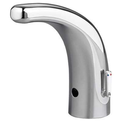 Selectronic Integrated AC Powered Single Hole Touchless Bathroom Faucet with Above-Deck Mixing in Chrome