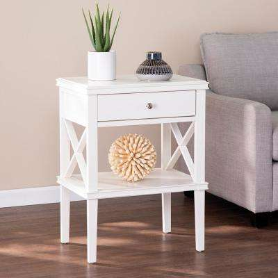 Gateland White Tall Accent Table