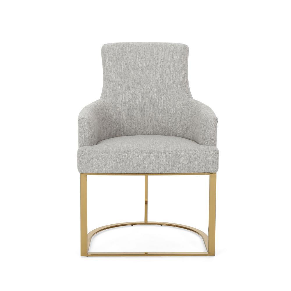 Gloria Light Grey Fabric Accent Chair