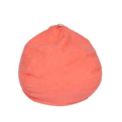 Coral Microsuede Bean Bag