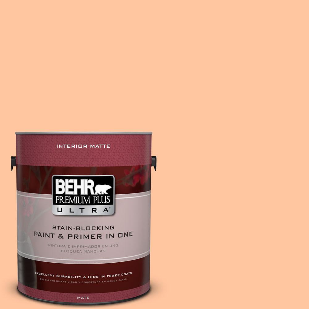 1 gal. #260B-4 Orange Sherbet Matte Interior Paint and Primer in