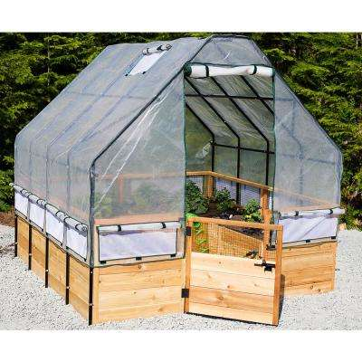 8 ft. x 8 ft. Garden in a Box with Greenhouse Cover