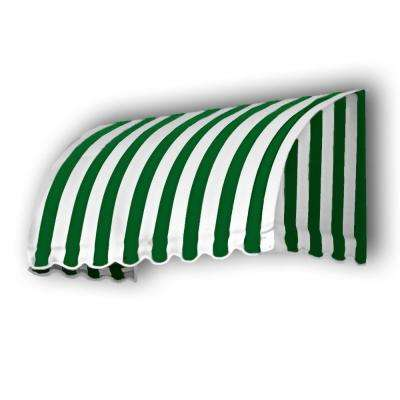40 ft. Savannah Window/Entry Awning (44 in. H x 36 in. D) in Forest/White Stripe