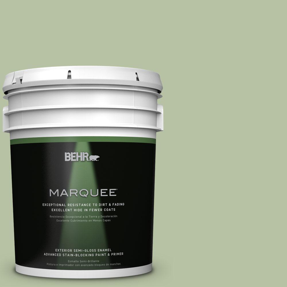 5-gal. #M380-4 Chopped Dill Semi-Gloss Enamel Exterior Paint