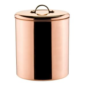Click here to buy Old Dutch 4 qt. Cookie Jar in Polished Copper with Knob in Brass by Old Dutch.