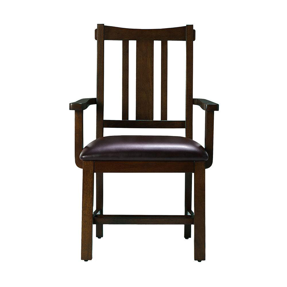 Home Decorators Collection 23.25 in. W Arm Chair Artisan in Macintosh Oak