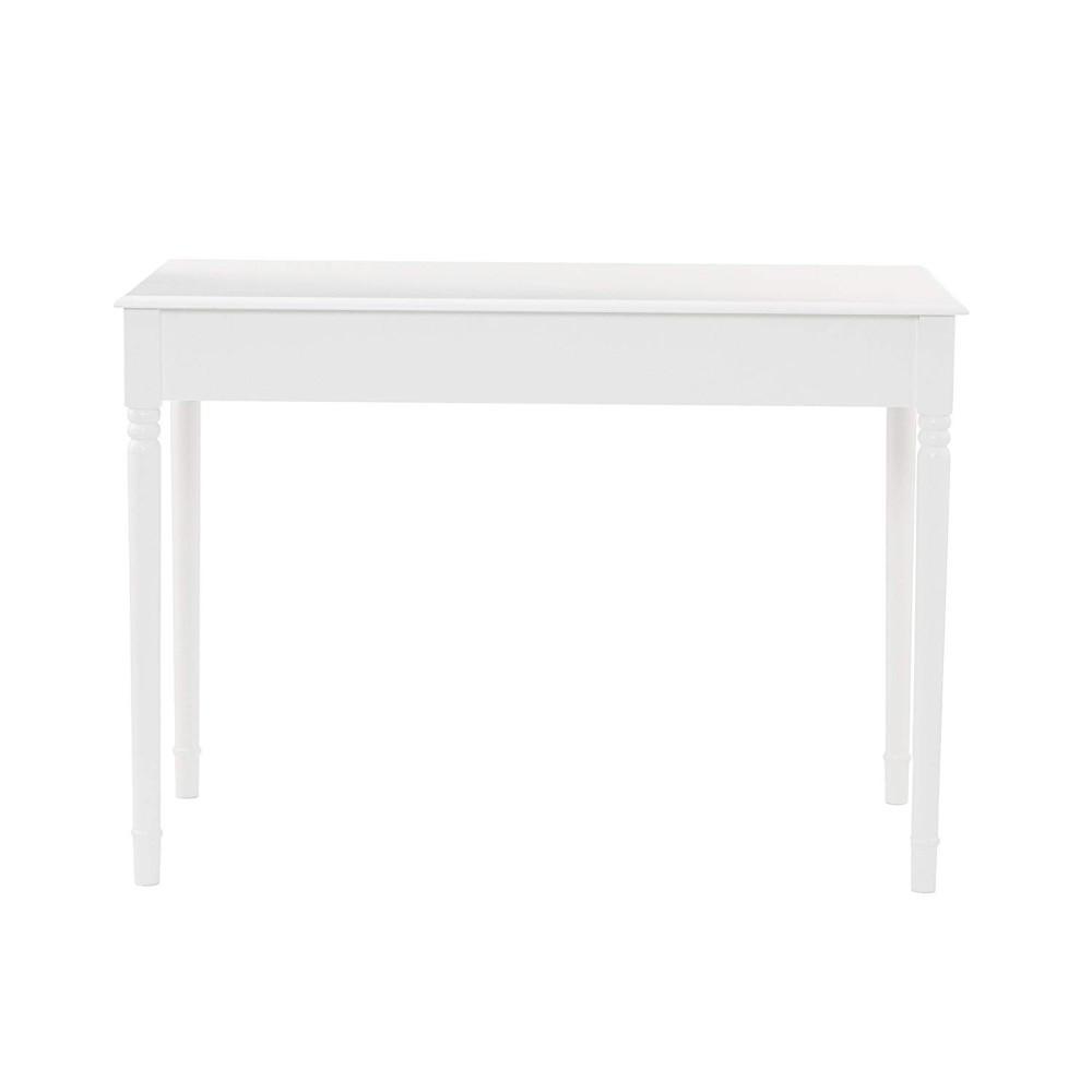 Crisp 2-Drawer Writing Desk In White-HO8800