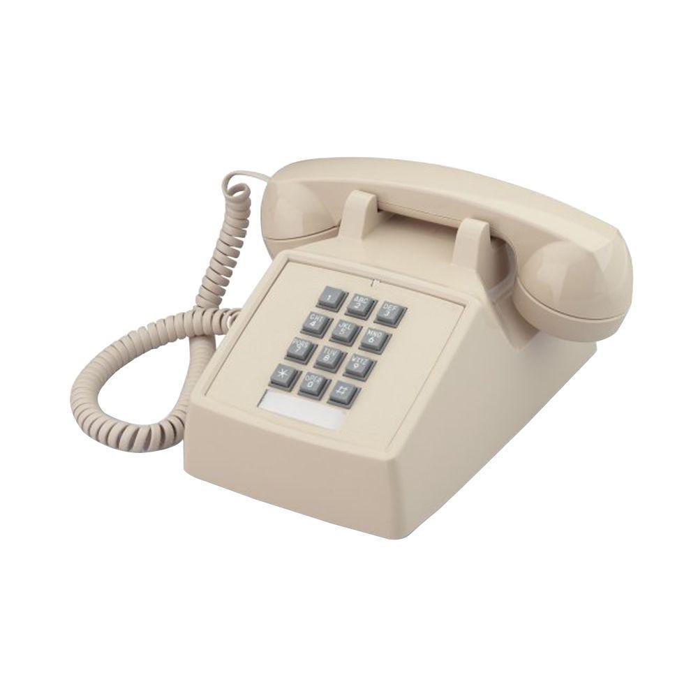 Cortelco Desk Corded Telephone with Volume Control - Ivory