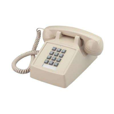 Desk Corded Telephone with Volume Control - Ivory