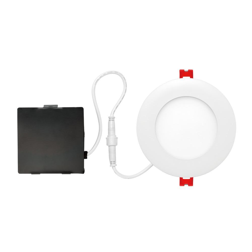 Ultra Slim Designer Series 4 in. White Integrated LED Recessed Kit