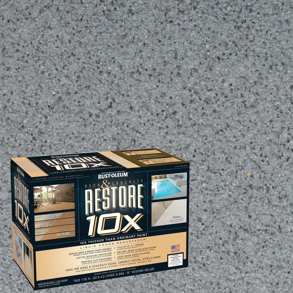 Rust-Oleum Restore 2-gal. Slate Deck and Concrete 10X Resurfacer