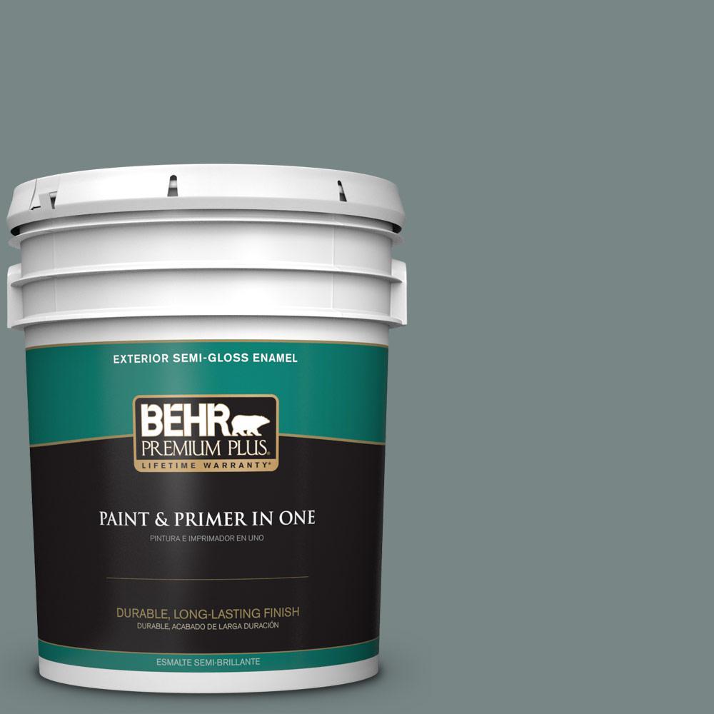5 gal. #PPU12-16 Juniper Ash Semi-Gloss Enamel Exterior Paint