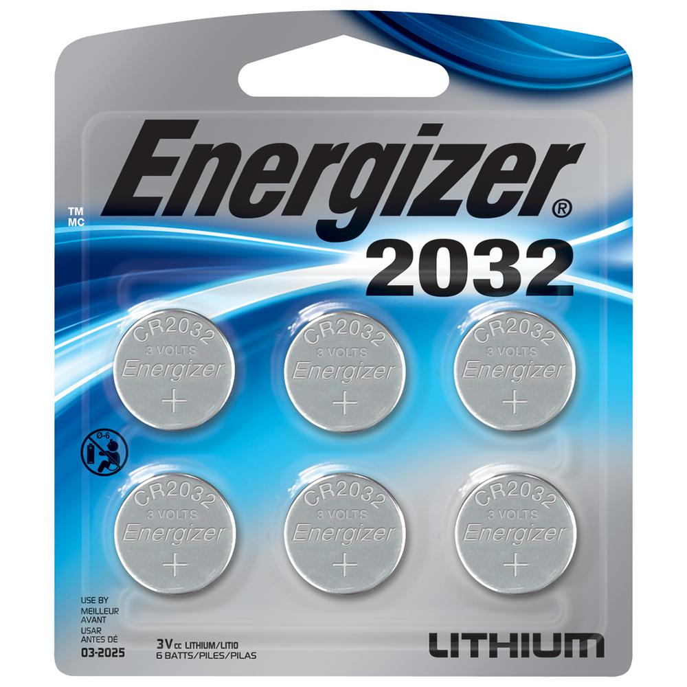 Energizer 2032 Lithium Battery (6-pack)