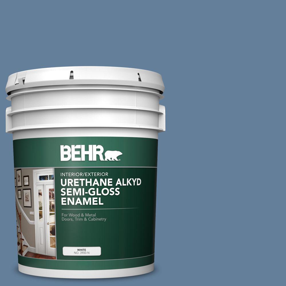 UPC 400709032058 product image for BEHR 5 gal. #ICC-74 Provence Urethane Alkyd Satin Enamel Interior/Exterior Paint | upcitemdb.com