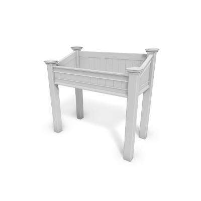 Liberty 48 in. x 47 in. White Vinyl Accessible Raised Garden