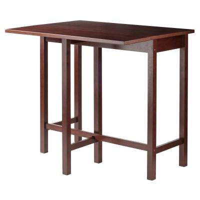 Lynnwood Drop Leaf High Table in Walnut