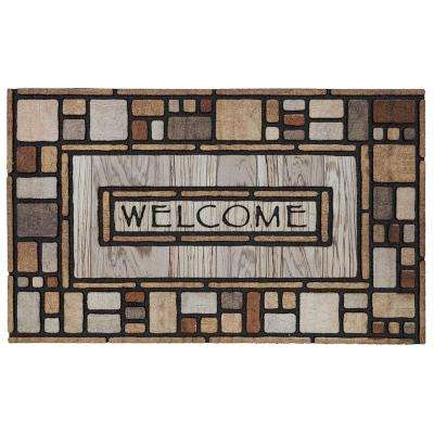 Drifted Nature Multi 18 in. x 30 in. Door Mat
