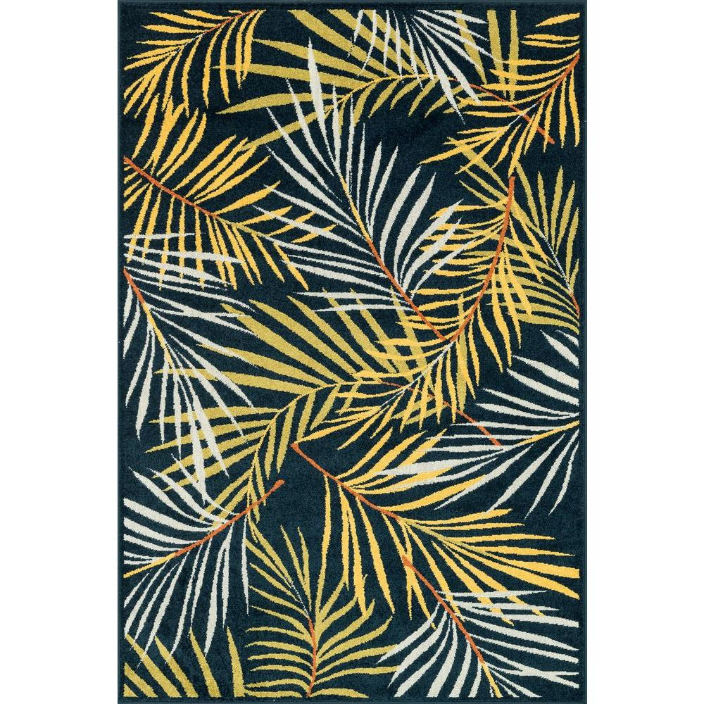 Loloi Rugs Catalina Lifestyle Collection Navy/Multi 5 ft. 2 in. x 7 ft. 5 in. Area Rug