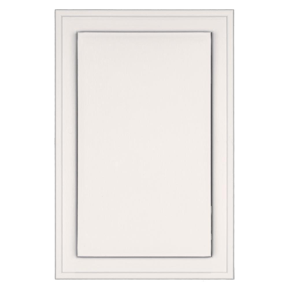 Builders Edge 8.25 in. x 12.0625 in. #117 Bright White Jumbo Universal Mounting Block