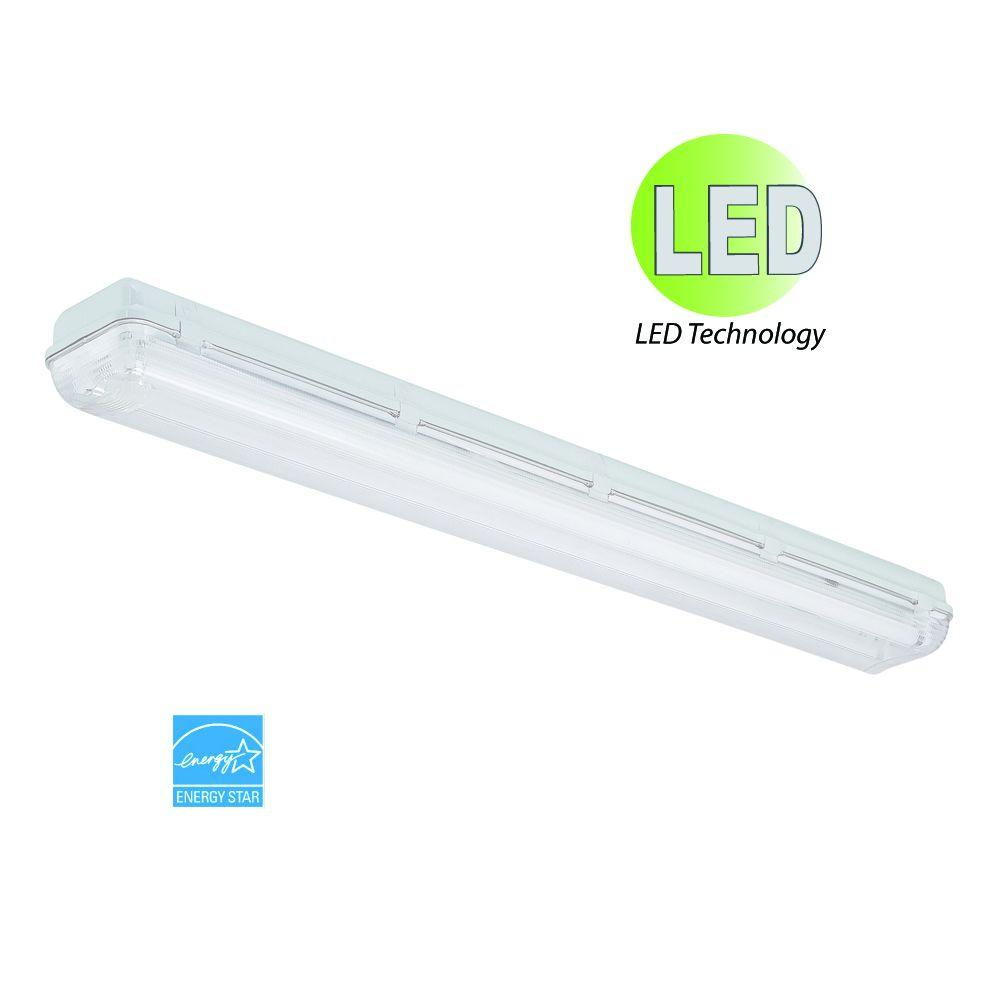 HomeSelects Grey LED Vapor Tight Light