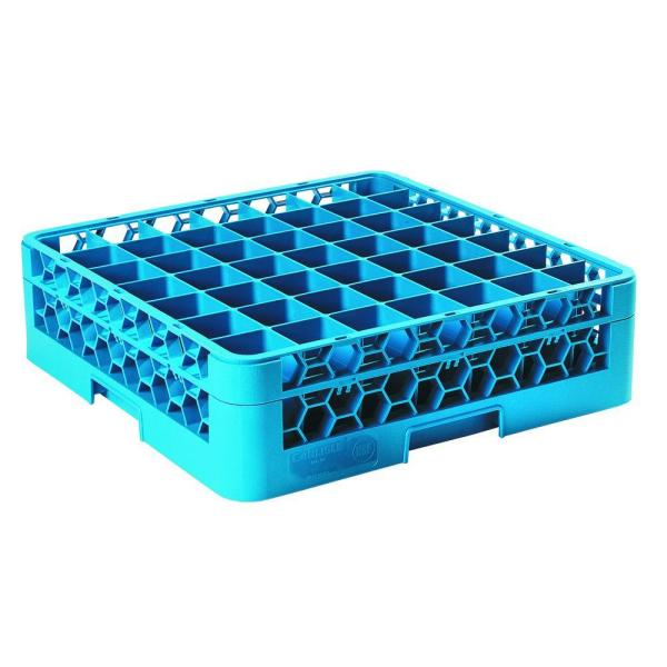 19.75x19.75 in. 49-Compartment 1 Extender Glass Rack (for Glass 2.13 in. Diameter, 4.75 in. H) in Blue (Case of 4)
