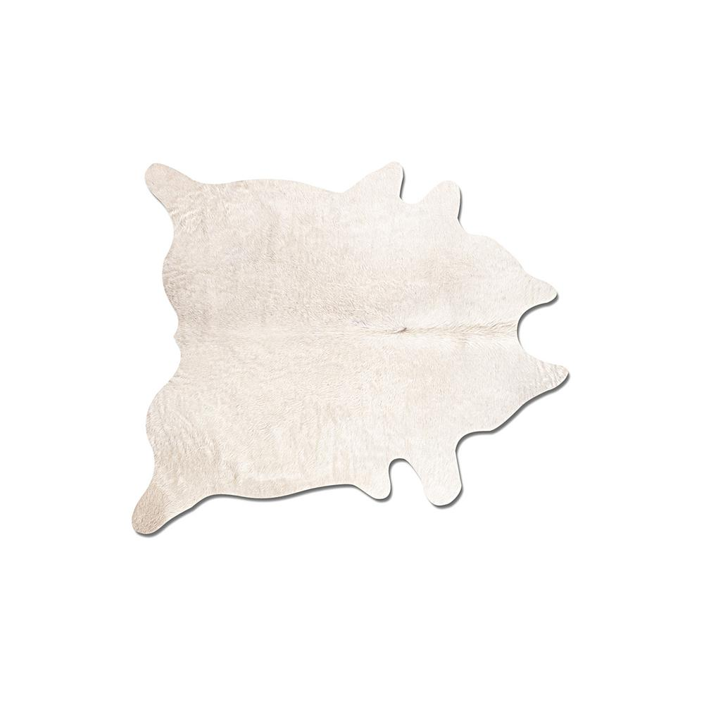 Natural Geneva Off White 6 Ft X 7 Cowhide Area Rug