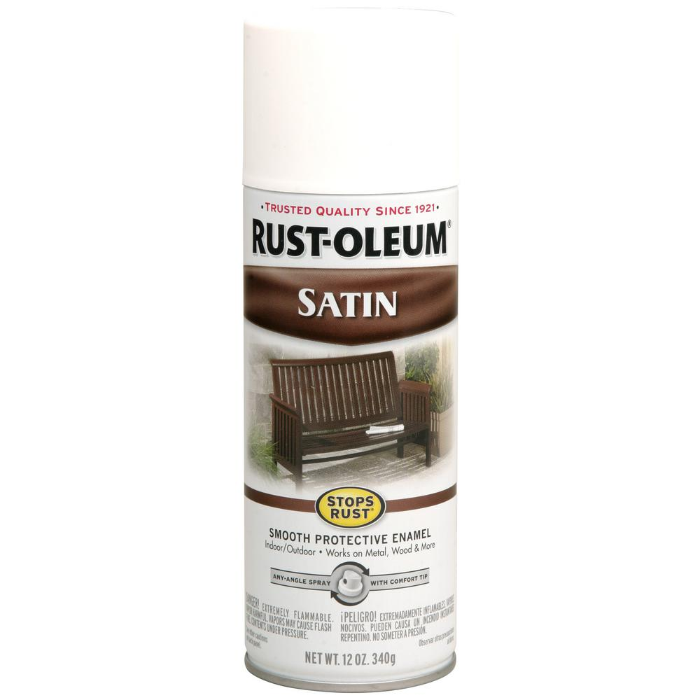 Rust-Oleum Stops Rust 12 oz. Protective Enamel Satin White Spray ...