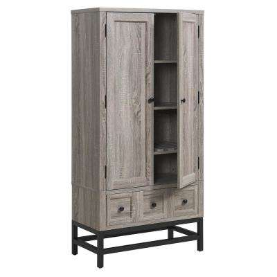 Aiken Weathered Oak Beverage Cabinet