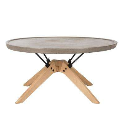 Bryson Dark Gray Stone Indoor/Outdoor Coffee Table