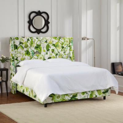 Willow Green King Upholstered Bed