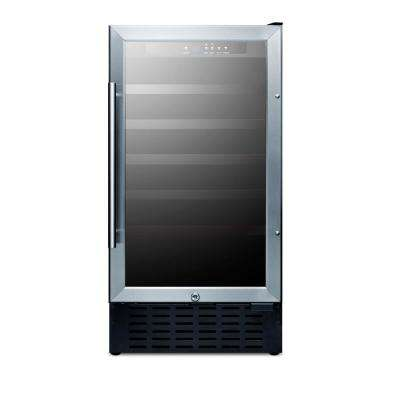18 in. 34-Bottle Built-In Wine Cooler
